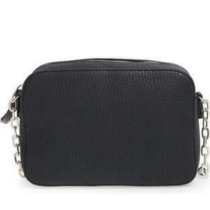 Phase3 Vegan Leather Black Crossbody Bag